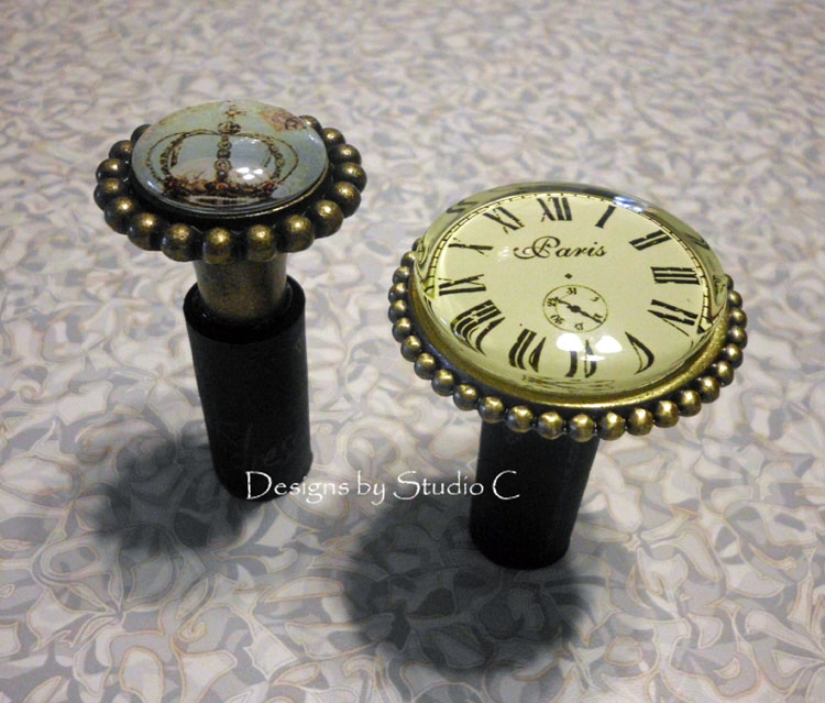 How to Make a Wine Bottle Stopper with a Drawer Knob finished
