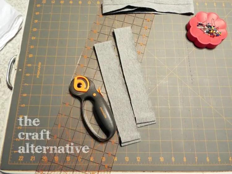 How to Make a T-Shirt into a Dress - cut waistband