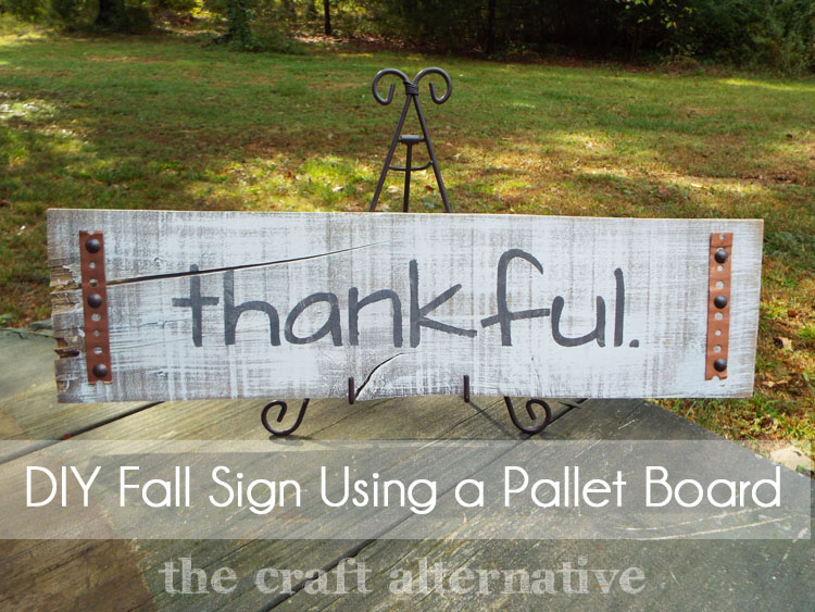 DIY Fall Sign Using a Pallet Board