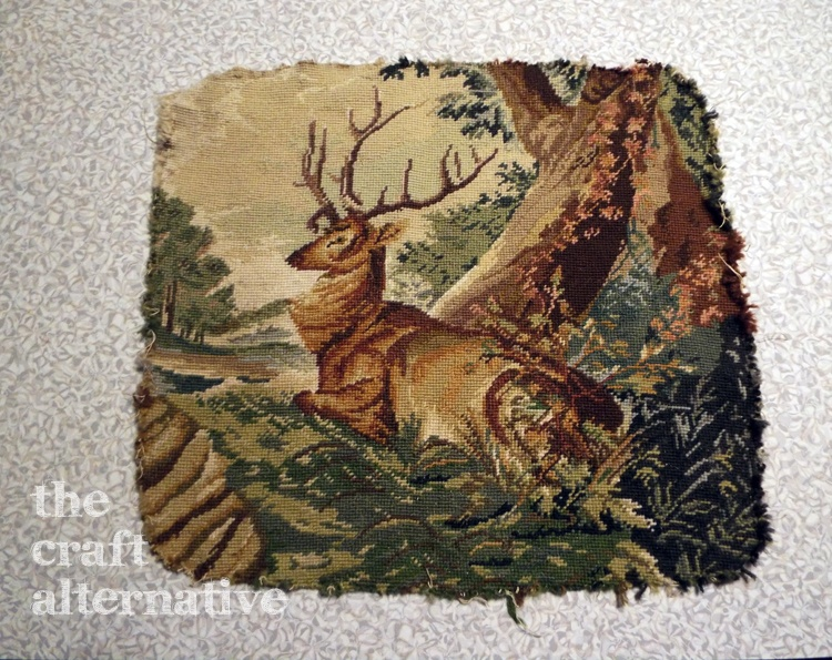 Make a Pillow with a Needlepoint Piece DSCF2261