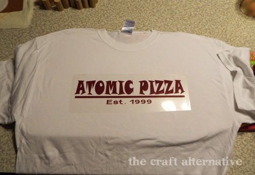 Custom T-Shirt Using Heat Transfer Vinyl DSCF2319