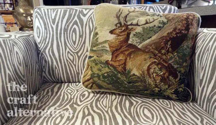 Make a Pillow with a Needlepoint Piece DSCF2358
