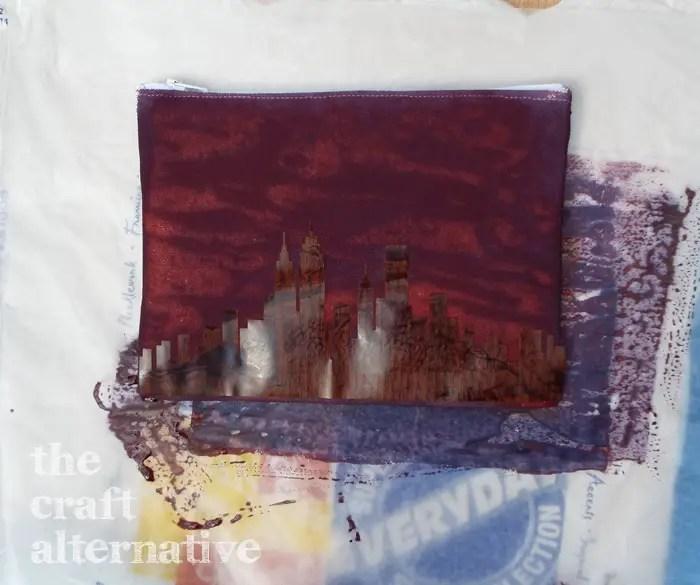 Ink Dye on a Canvas Pouch DSCF2407