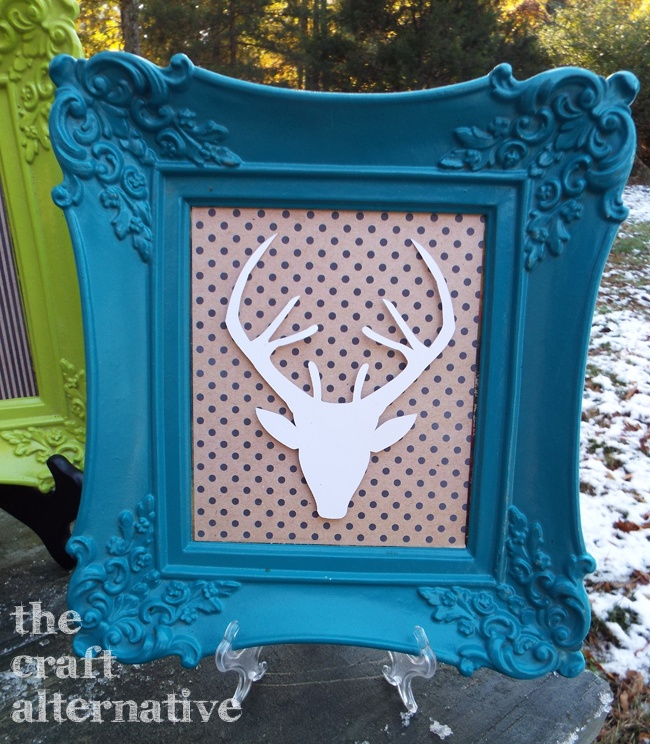 Framed Deer Wall Art_Lagoon