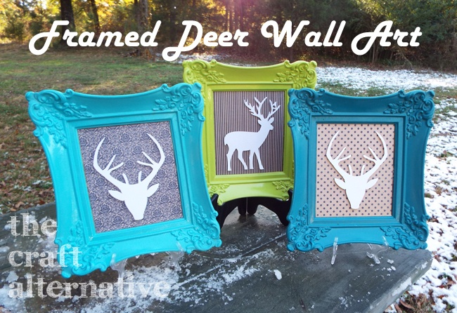 Framed Deer Wall Art