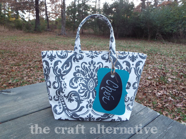 How to Make a Fabric Gift Bag_Finished