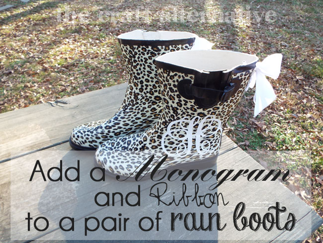 How to Add a Monogram and Ribbon to a Pair of Rain Boots_Featured