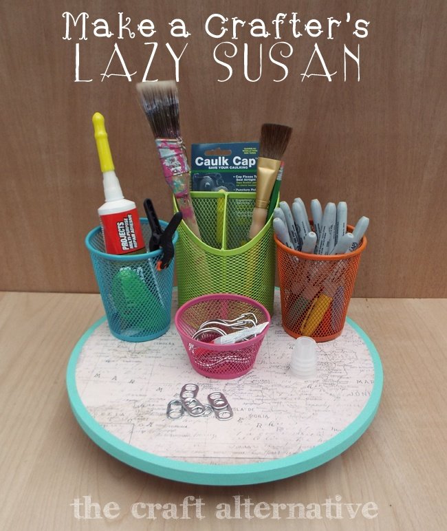 How to Make a Lazy Susan Organizer