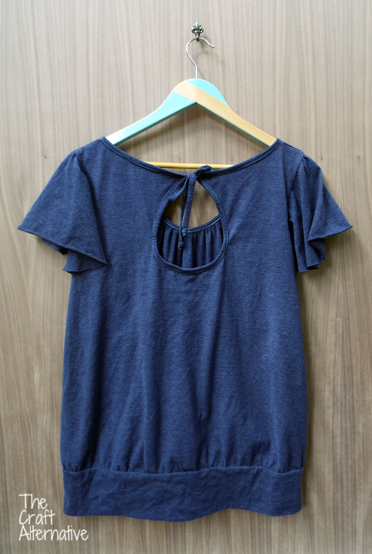 The Ariadne Tunic Made with Men's T-Shirts_Back