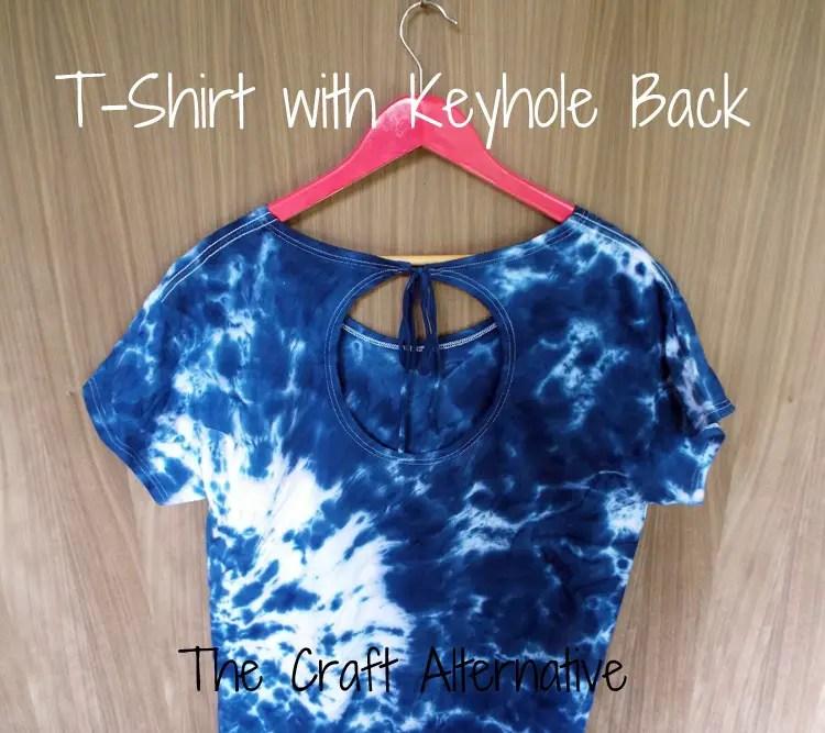 T-Shirt with a Keyhole Back