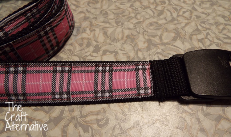 Adding Ribbon to a Plain Belt_Stitches