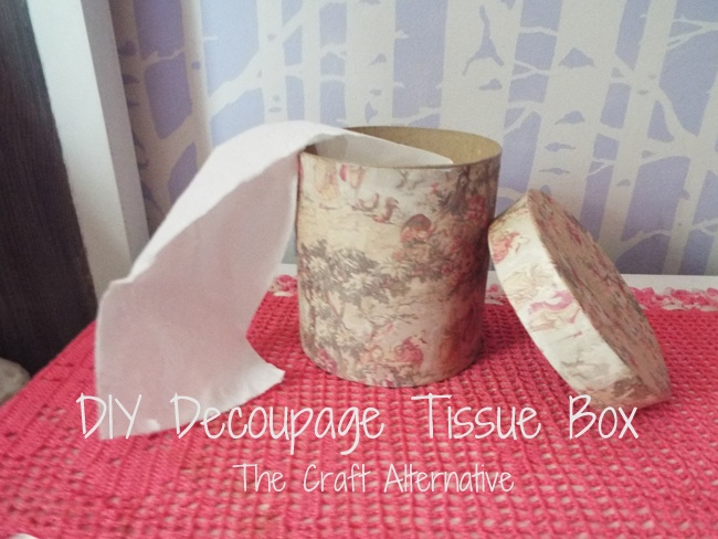 DIY Decoupage Tissue Box