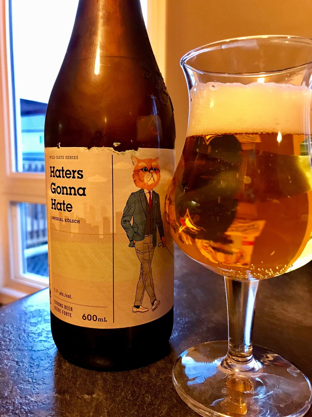 Haters Gonna Hate Imperial Kölsch by Beau's is a great strong beer for the summer that packs the punch that one would seek from a maltier brew.