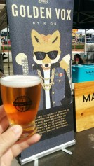 Golden Vox by Beau's, rye-soaked pale lagered ale, fresh and citrus tang, 6.0% ABV.