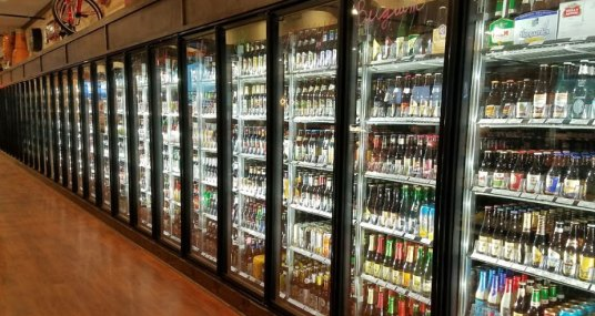 Beer fridges at The Foodery in Phoenixville, PA