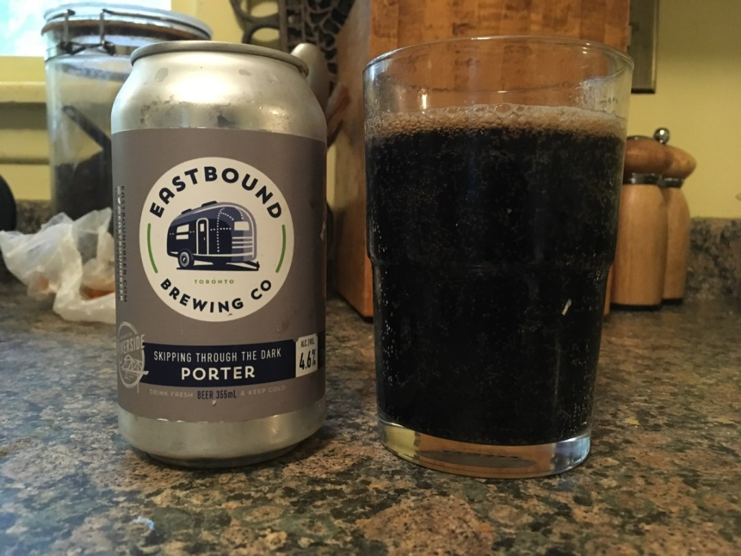 Skipping Through the Dark is a nice, dark, malty Porter from Eastbound Brewing Company in Toronto. As Fall approaches, this is a perfect drink for the cooler nights.