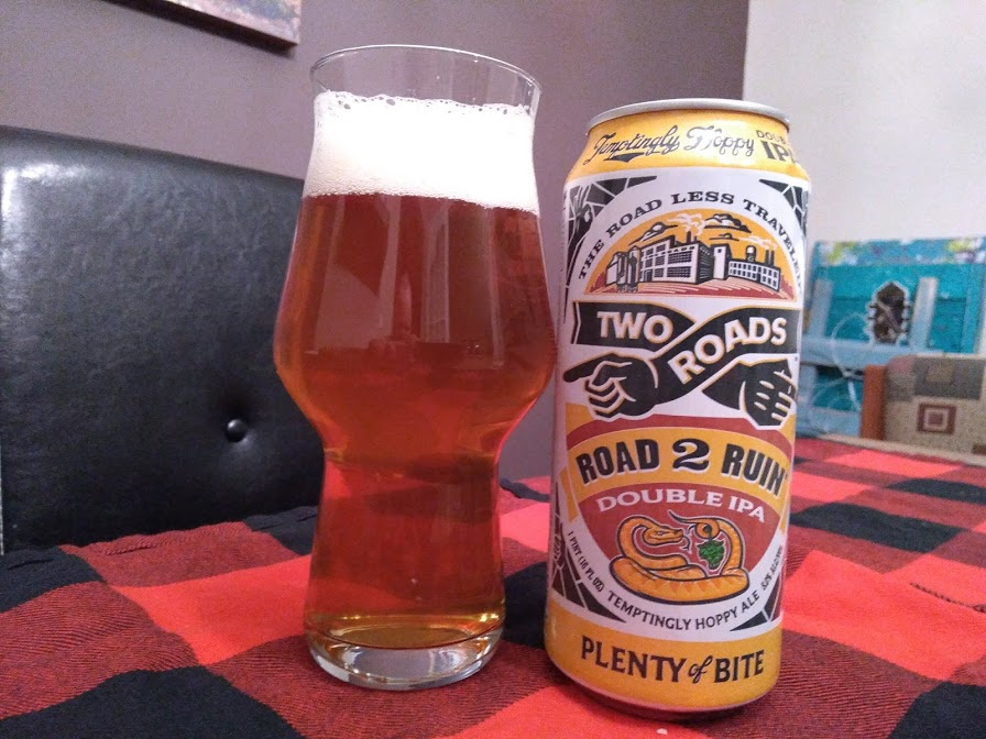 Review: Road 2 Ruin DIPA by Two Roads Brewing