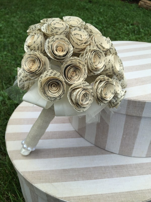 Book Page Rose Bouquet