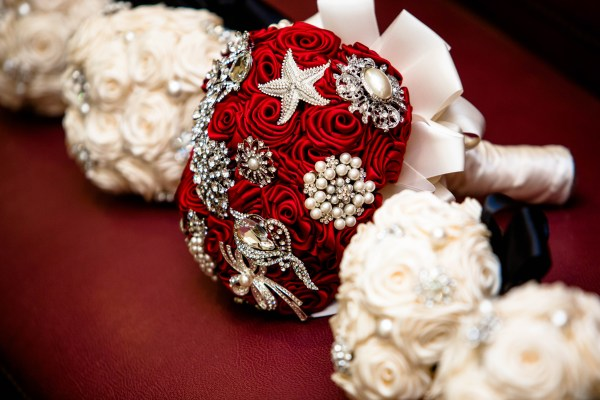 Handmade Satin Ribbon Rose Brooch Bouquets