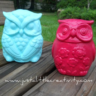 West Elm Inspired Owl Makeover - Just a Little Creativity