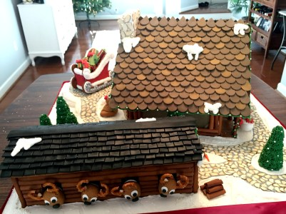 Gingerbread House Stable Side