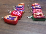 Side view on charms