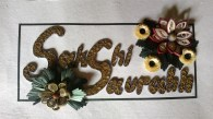 Text written in Bee-Hive Quilling