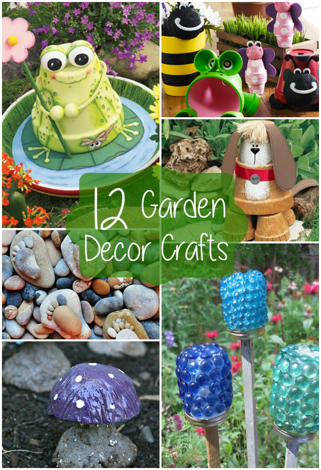 12 Garden Decor Crafts   The Craftiest Couple on Backyard Decor  id=80212