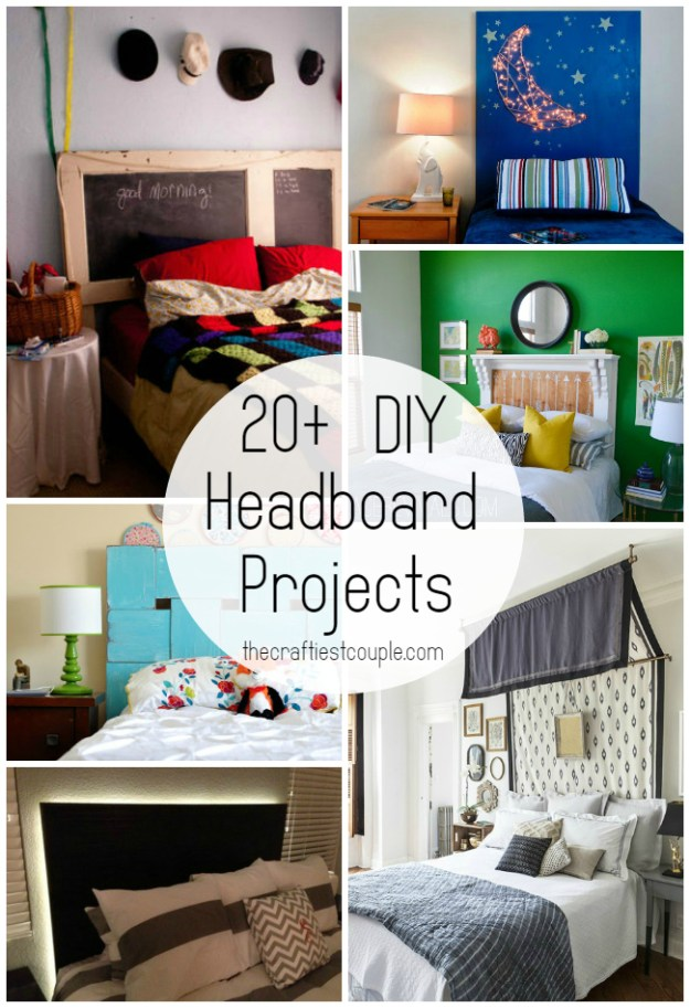 20+ diy headboard projects | the craftiest couple