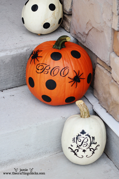 Painting Pumpkins Martha Stewart Style The Crafting Chicks