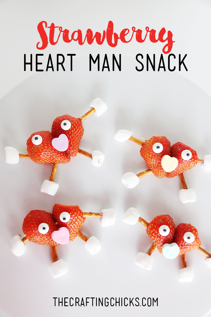 Strawberry Heart Man Kid Snack The Crafting Chicks