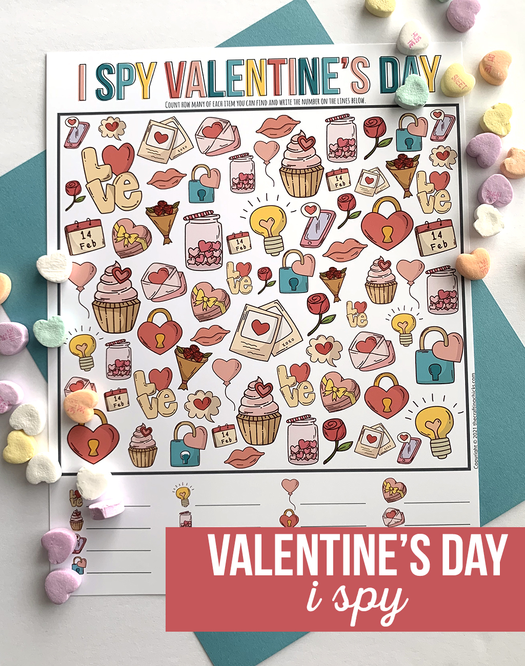 valentine I spy game