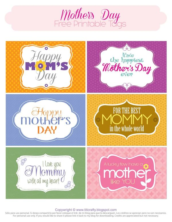 Giving Some Love! Mother's Day Printable Tags | The ...