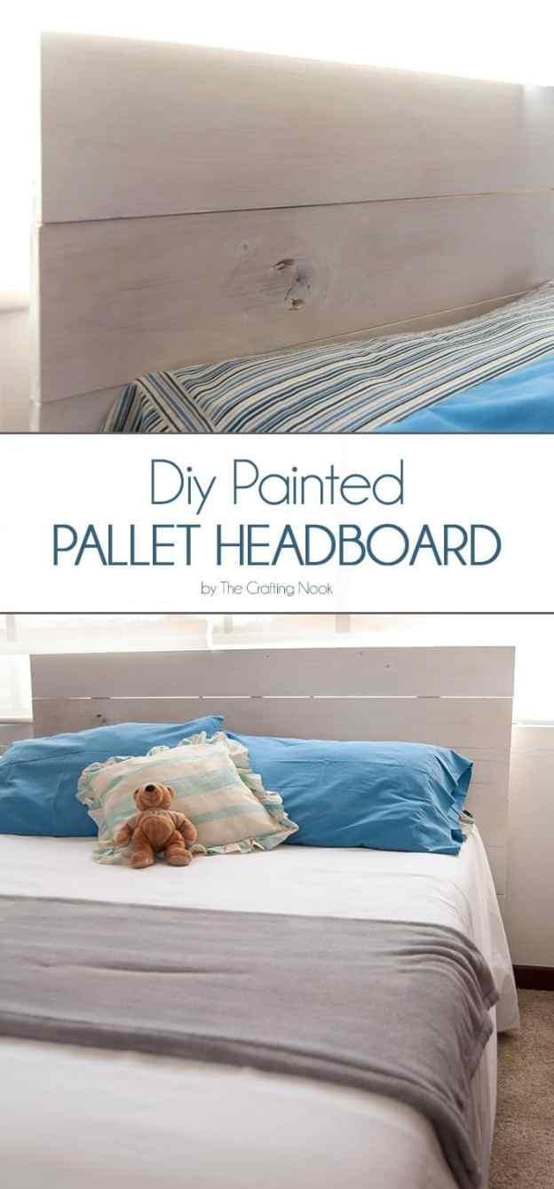 diy painted pallet headboard   the crafting nook