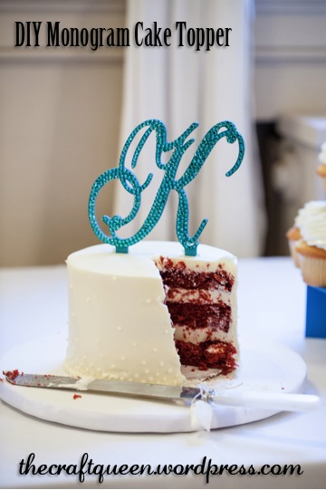 8. DIY Wedding: Monogram Cake Topper (5/5)