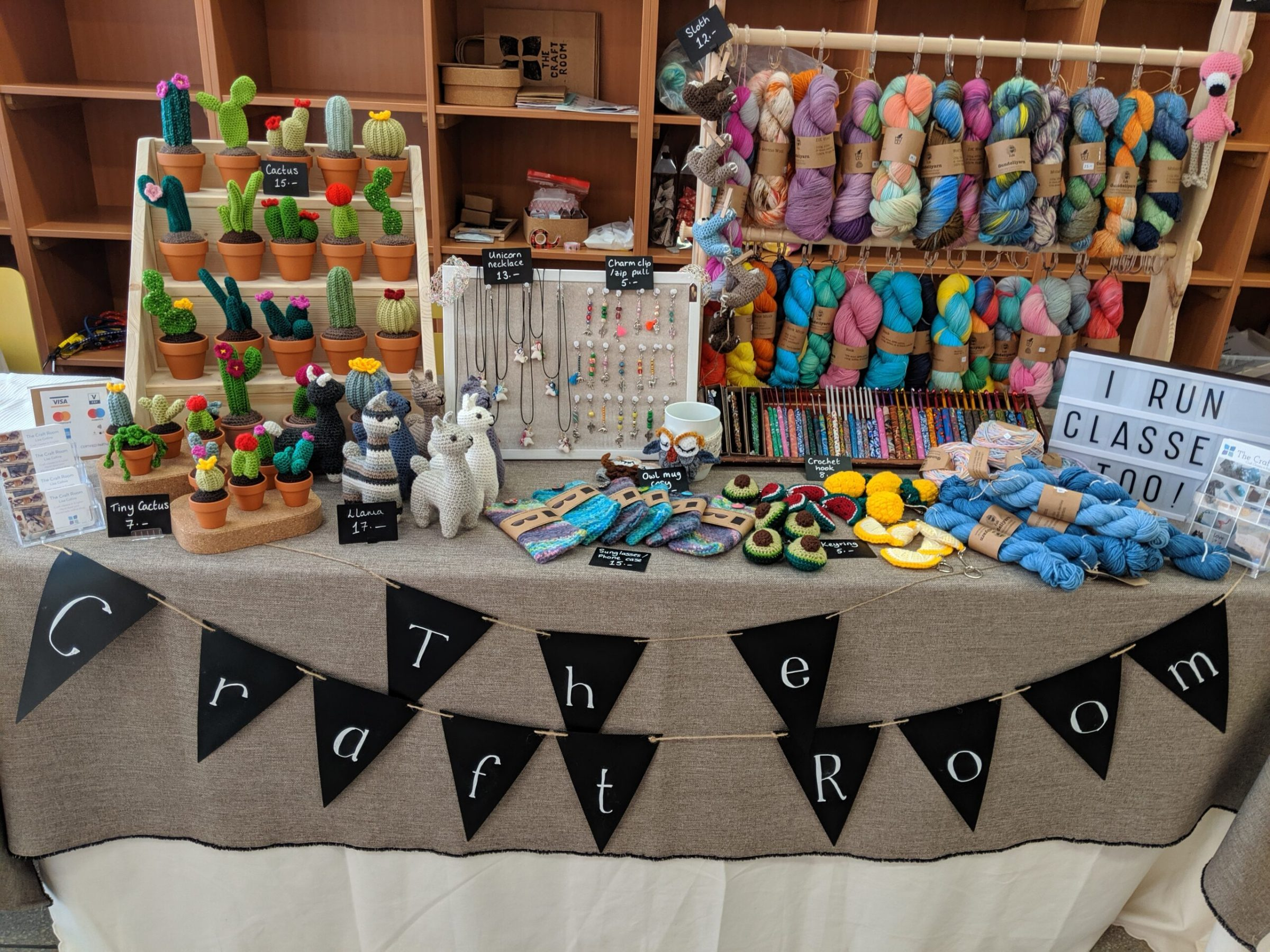 The craft room market stall