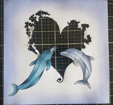 Coloured in dolphins