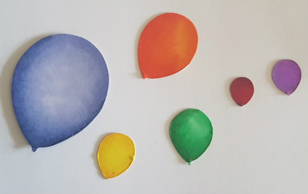 Balloons coloured and cut out