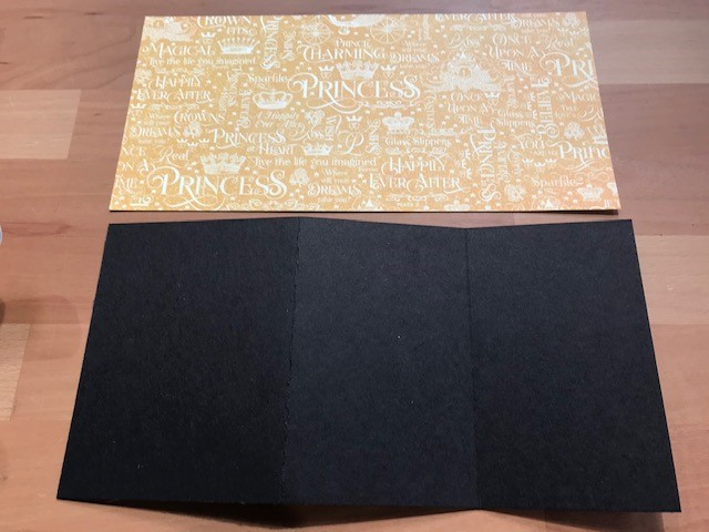 Mounted card and paper