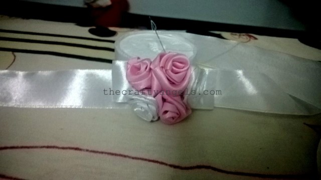 DIY ribbon roses headband