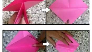 Kids Paper Craft Origami Basket 3