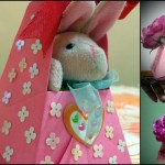 Kids paper craft : Origami basket #3