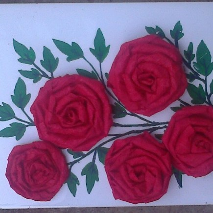 crepe rose flower tutorial