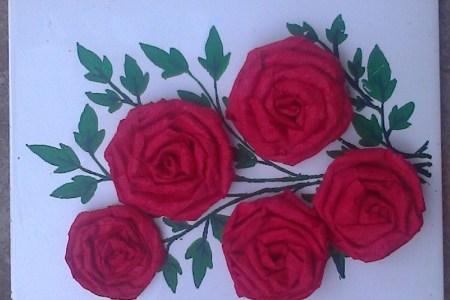 crepe rose flower tutorial