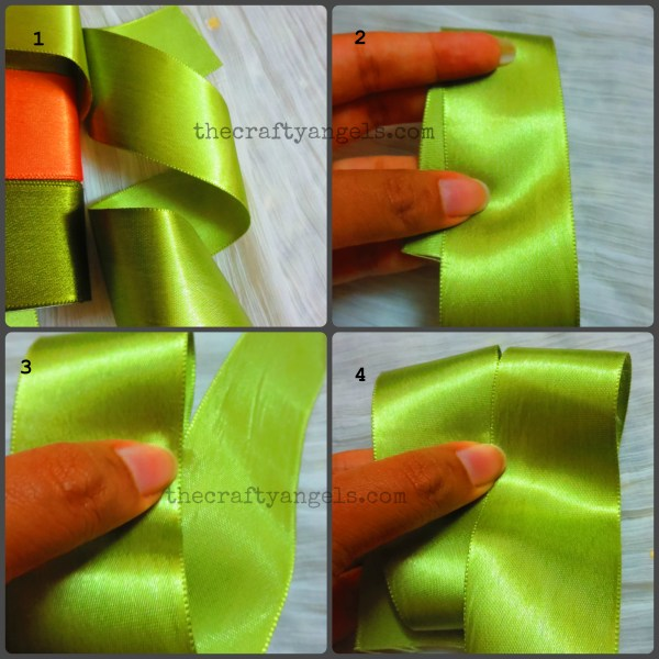 ribbon bow tutorial steps 1