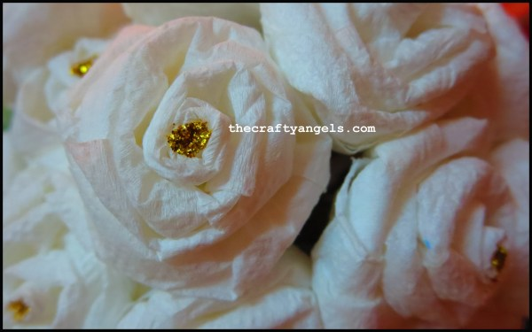 tissue paper rose flower tutorial a