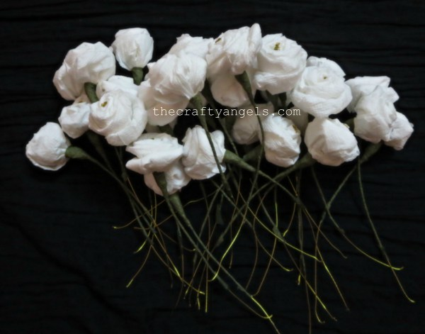 tissue rose flower tutorial b