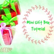 Mini gift box tutorial 9
