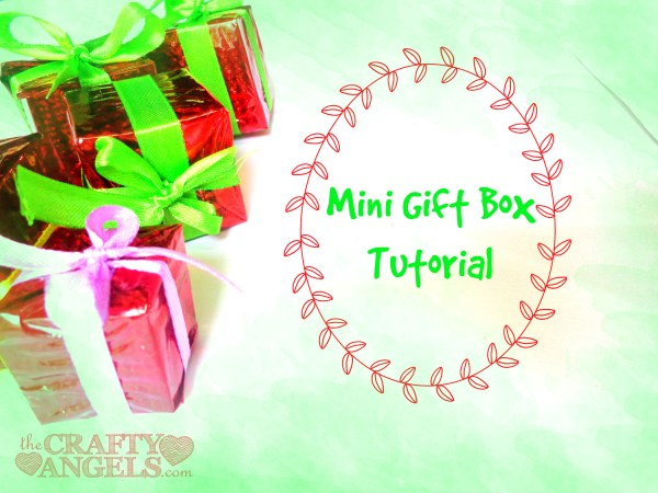 Mini gift box tutorial 9