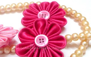 Kanzashi ribbon flower tutorial (4)